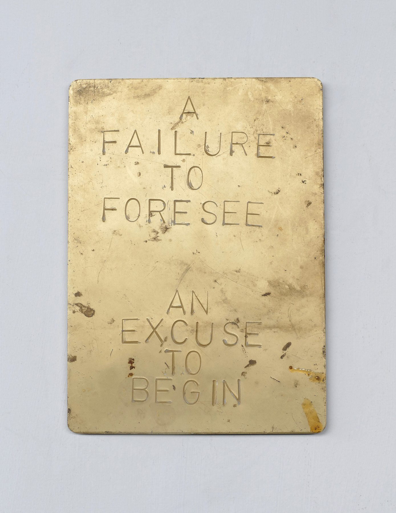 A FAILURE TO FORESEE AN EXCUSE TO BEGIN